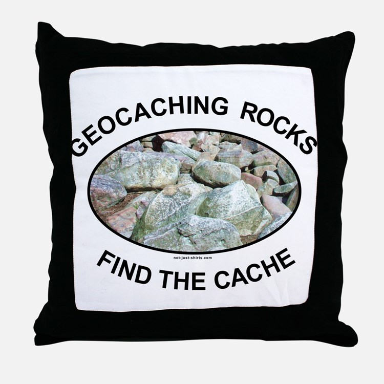 Geocaching Rocks Throw Pillow