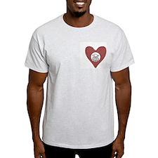 Poison Heart Ash Grey T-Shirt