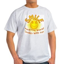 the world smiles with you 2 T-Shirt