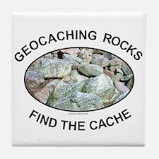 Geocaching Rocks Tile Coaster