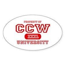 CCW University Oval Decal