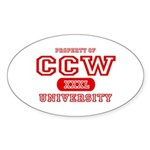 CCW University Oval Sticker