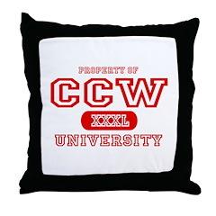 CCW University Throw Pillow