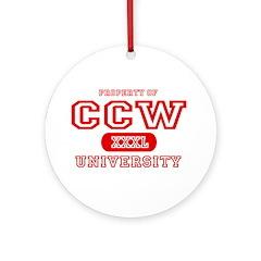 CCW University Ornament (Round)