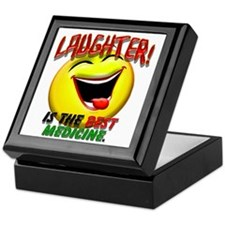 LAUGHTER IS THE BEST MED 1 pract flat Keepsake Box