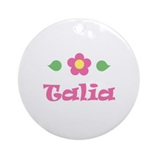 "Pink Daisy - ""Talia"" Ornament (Round)"