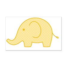yellow elephant Rectangle Car Magnet