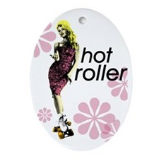 hot roller Oval Ornament
