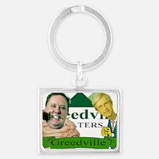 greedville logo jabba the craig Landscape Keychain