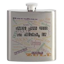 Mardi Gras Madness Flask
