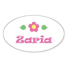 """Pink Daisy - """"Zaria"""" Oval Decal"""