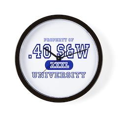 .40 S&W University Wall Clock