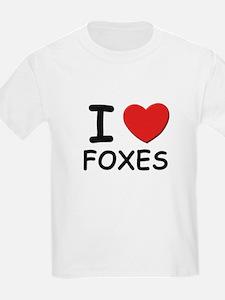 I love foxes Kids T-Shirt