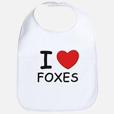 I love foxes Bib