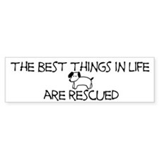 The Best Things In Life Are Rescued Bumper Bumper Sticker