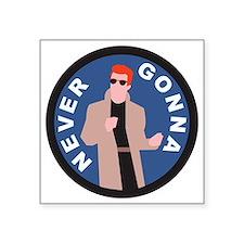 """Rickroll Square Sticker 3"""" x 3"""""""