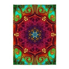 mandala-psychedelic-excursion-art-p 5'x7'Area Rug