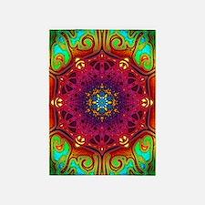 mandala-psychedelic-excursion-art-p 5'x7'Area Rug
