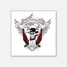 "Assassins Patch Square Sticker 3"" x 3"""