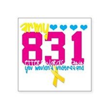 "army831edit Square Sticker 3"" x 3"""