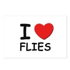 I love flies Postcards (Package of 8)
