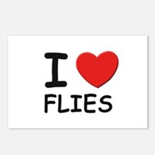 I love flies Postcards (Package of 8)