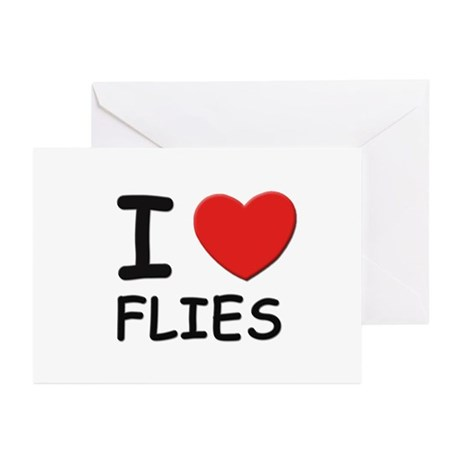 I love flies Greeting Cards (Pk of 10)
