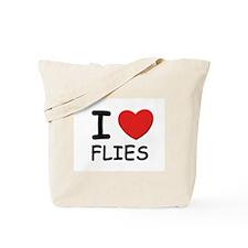 I love flies Tote Bag