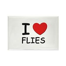 I love flies Rectangle Magnet