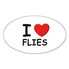 I love flies Oval Decal