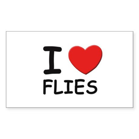 I love flies Rectangle Sticker