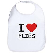 I love flies Bib