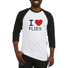I love flies Baseball Jersey