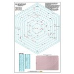 20 Light Year Hexagon Star Map - Large