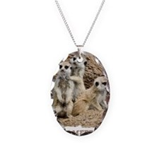 I LOVE MEERKATS! Necklace Oval Charm