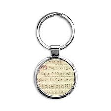 music_score Round Keychain