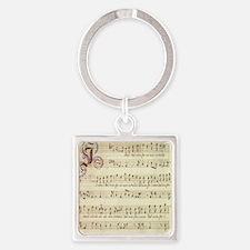 music_score Square Keychain