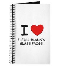 I love fleischmann's glass frogs Journal