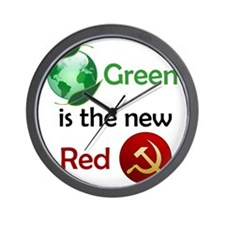 greennewredshirt Wall Clock