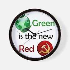 greennewredshirt Wall Clock