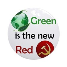 greennewredshirt Round Ornament