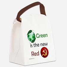 greennewredshirt Canvas Lunch Bag