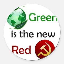 greennewredshirt Round Car Magnet