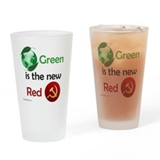greennewredshirt Drinking Glass