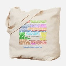 scrubscollagewh Tote Bag