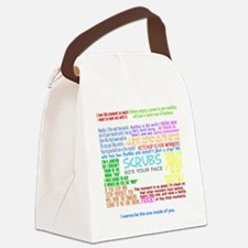 scrubscollagewh Canvas Lunch Bag