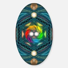 Reconcilliation-Mandala Sticker (Oval)