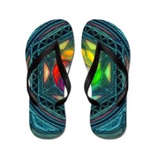 Reconcilliation-Mandala Flip Flops