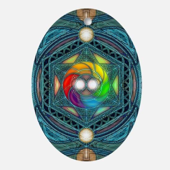 Reconcilliation-Mandala Oval Ornament