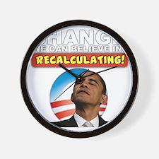 recalculating_shirt_cp4 Wall Clock